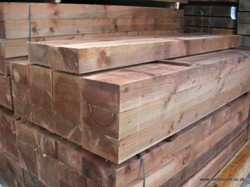 Appearance grade rough green western red cedar timbers