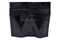 Stock black black plastic packaging bags