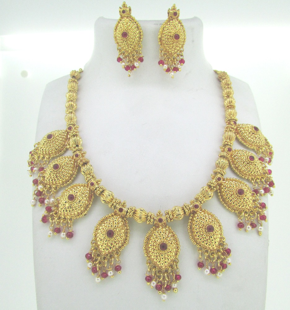 beaded necklace set for ladies