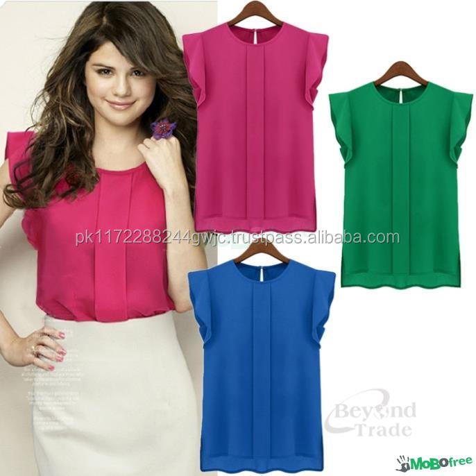Fashionable and latest women top in different designs and color