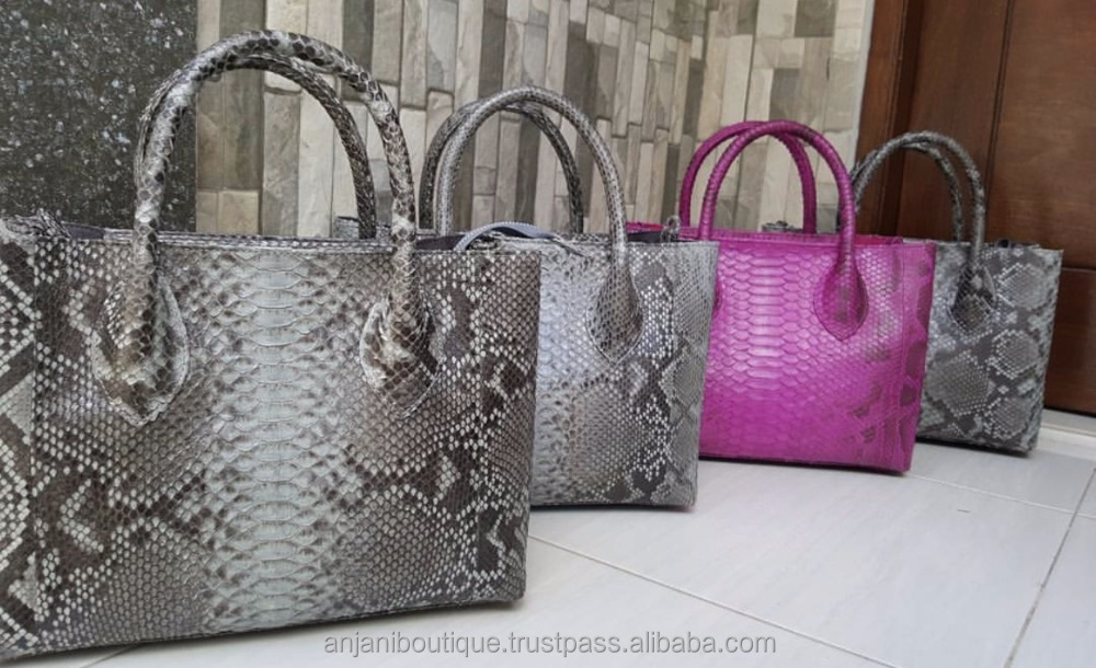Costumize Handbag Python Bag Ladies Tote Bag Genuine Leather