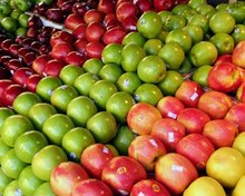 new Fresh fruits red star apples