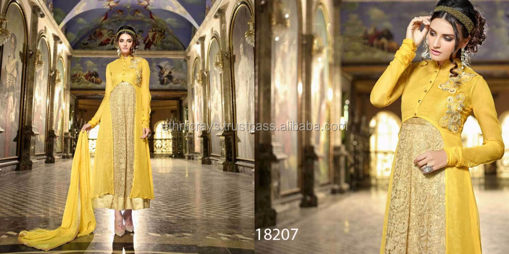 Designer Faux Georgette Semi Stitch Suits