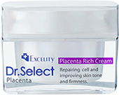Dr Select Placenta Rich Highly Concentrated Moisturizing Cream 30g Made in Japan