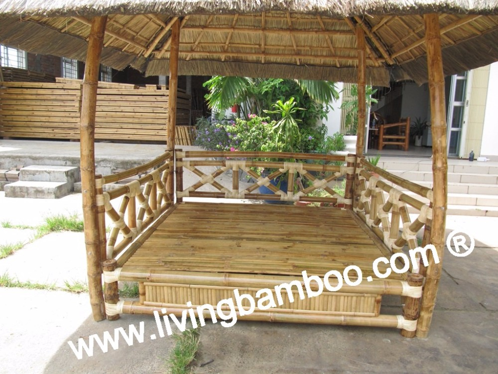 GOLD BAMBOO GAZEBO
