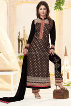 Faux Georgette Black Fancy Suits salwar kameez'