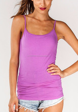 Bright Purple Basic Siglet Top with deep scoop neck and smart fit