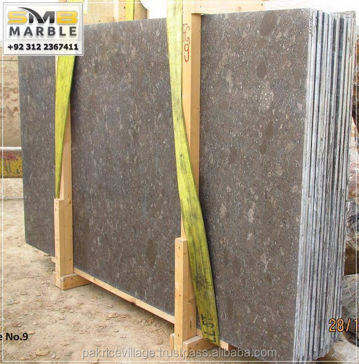 Fossil Brown & Oceanic Marble Slabs Natural Polished