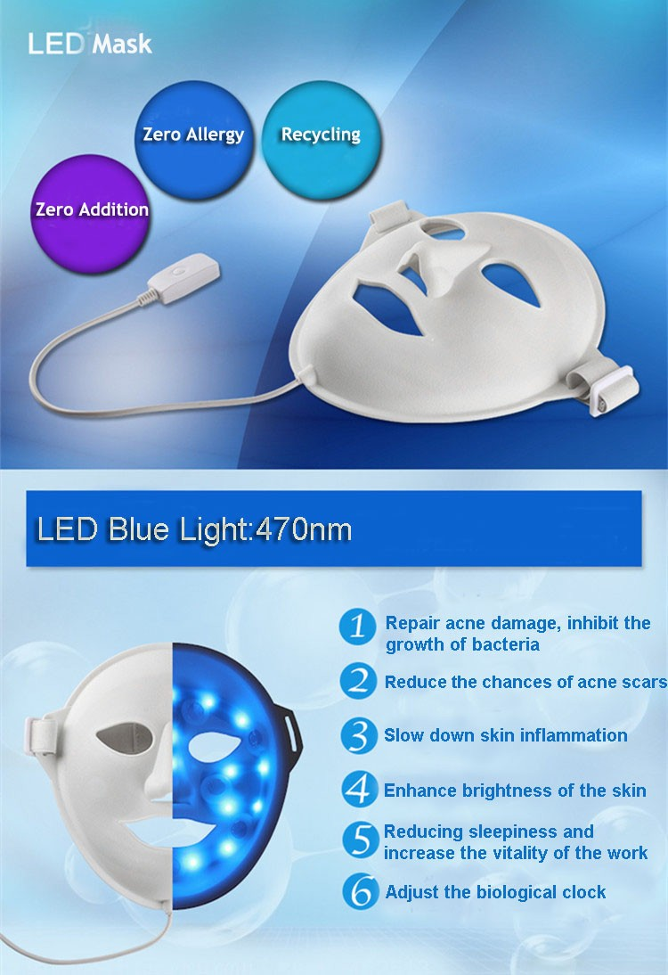 Beauty 3D Vibration Photon LED Facial Mask/Magic Skin Rejuvenation Led Mask pass CE & EMC & LVD