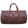 brown Handmade moroccan leather Travel bags duffle bag