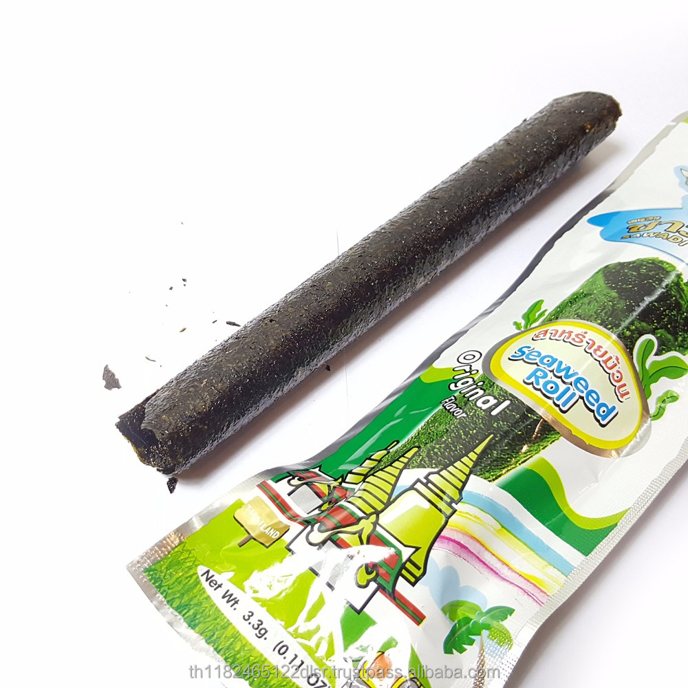 Yummy Thai crispy seaweed snack,Original flavour Algae rolled sheet, Healthy snack