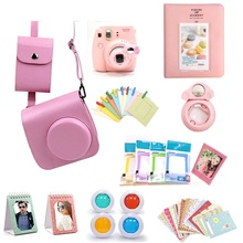 CAIUL 17 in 1 Fujifilm Instax Mini 8 Case Bag Accessory Bundle Set Best Gift Pink