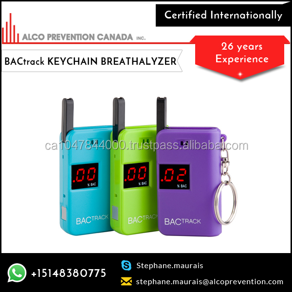 Keychain Bactrack Breathalyzer Results Are Displayed On A Bright, Easy-to-read LED Display