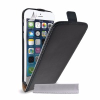 Flip Case Cover Genuine Leather for iPhone 6 Black