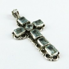California Style !! Natural Blue Topaz 925 Sterling Silver Pendant, Indian Silver Jewellery Wholesaler And Manufacturer