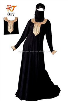 Free size pretty kaftan islamic maxi kimono abaya with belt factory wholesale muslim embroidery lace dubai front open abaya 201