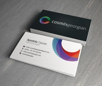 High quality embossed business cards& Elegant business cards/name cards/calling cards printing with coloured edges