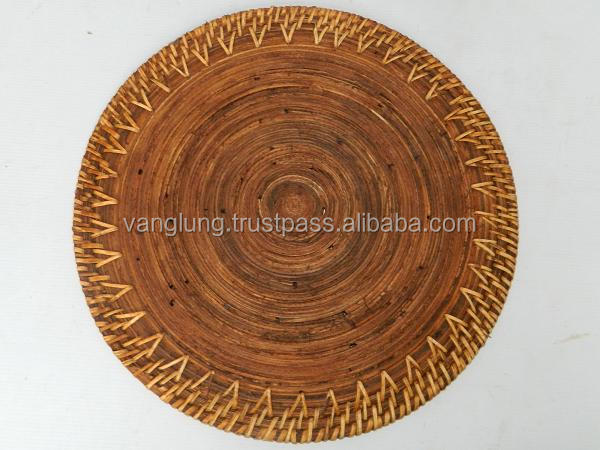 Rectangle Bamboo rattan table placemats