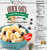 RuNi - Quick or Instant Rolled Oats 18oz