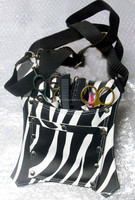 Hairdresser scissor case / Barber holster / Holster Zebra Hair Dressing Salon Barber Scissor Holder Comb Case