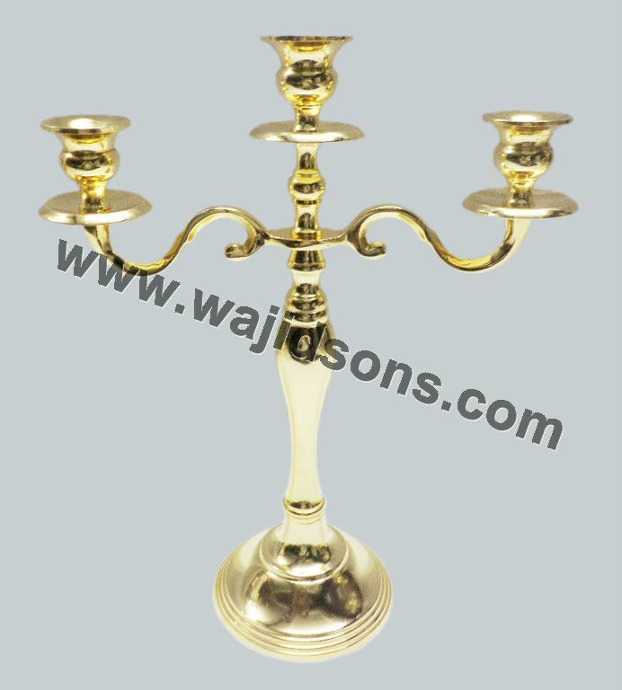 3 Arms Beautiful Gold Candelabras weddings And Metal Gold Standing Candelabras For Celebrated The Festivals
