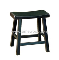 Wooden bar stool 18'', antique solid wood chair