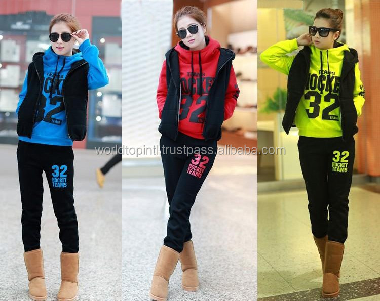 Unlimited Ladies Jogging/Warm-Up Fleece Suits with Fine Stitching & Exceptional Embroidery Work/ Classic Custom Fleece Suit
