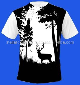 Custom design sublimation t shirt with polyester and cotton fabric
