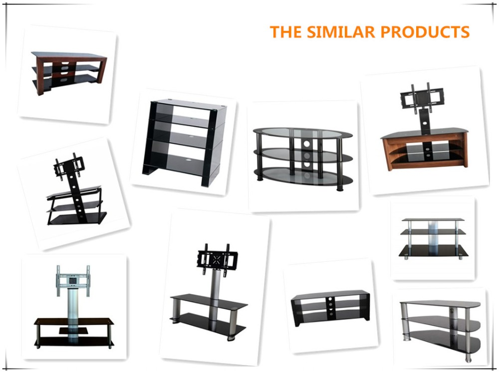 modern glass corner used high end universal plasma lcd tv pole stand