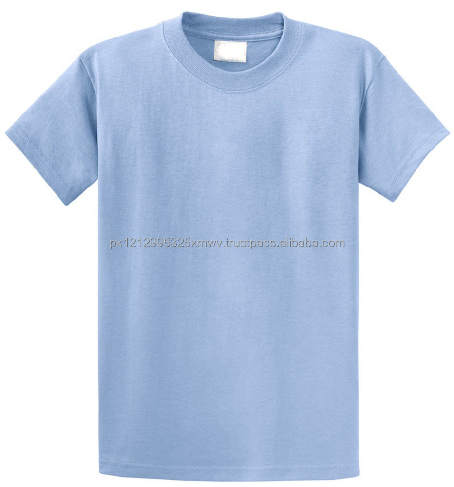 Custom Plain Blue Led Cotton T shirts for Men in Wholesale Price