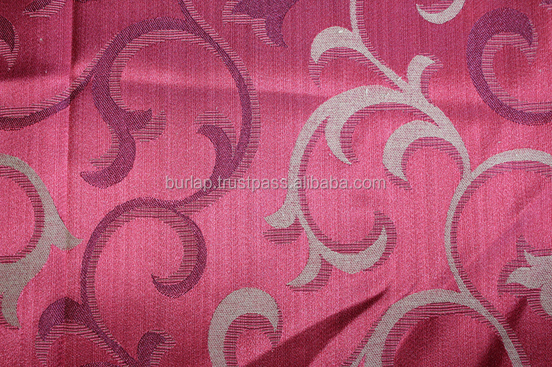 jacquard leaf design outdoor curtain fabric