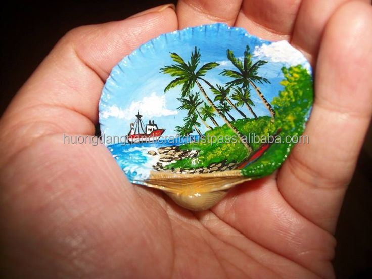 painting in pearl shell made in Viet Nam/ art painting in the seashell/ antique gift for friend