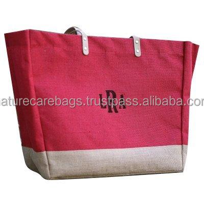 JUTE SHOIPPING BAGS FOR PROMOTION WHOLE SALE MANUFATURER INDIA KOLKATA/Hot sale fashion jute shopping bag with customized logo