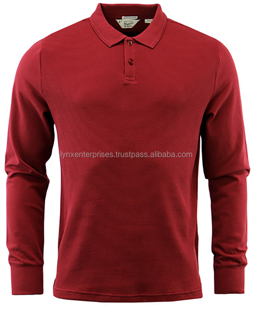 High Quality Fashion Men's Long Sleeve Polo Shirt With Your Own Logo / Polo Shirt for Men Long Sleeve T-shirts
