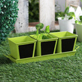 Planters Large Outdoor Garde | Chalk Board Herb Planter With Base Red 4 Pcs
