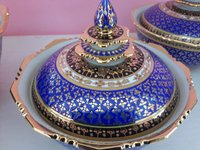 Royal Thai Benjarong Handcrafted Rice Bowl Set with Gold Plated