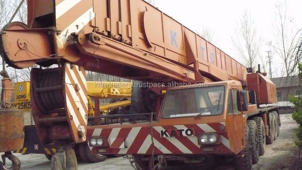 80ton Used KATO truck crane ,Original in Japan used truck crane NK800E.Mobile Crane