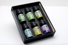 ESSENTIAL OIL SET/pine,peppermint,juniper berry,basil,salvia,lavender/ 60 gr