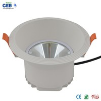 High Lumen LED 30W COB Downlight, 85-265VAC, Ra>80, Integral Die-casting Aluminum LED Light Retrofit Downlight