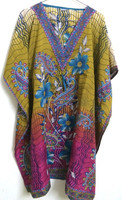 Elegant Fancy Beach Kaftans Batwing Sleeves Casual Wear printed Kaftan Women's Tunic Pattern