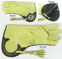 Double Skin Falconry Glove made from quality Deerskin falcon glove