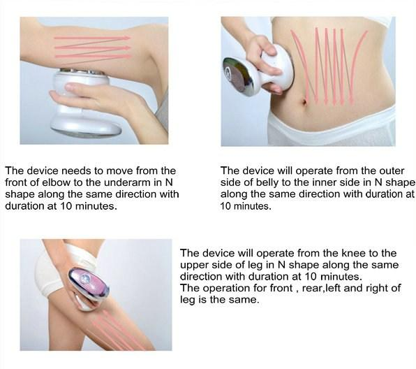 Home Use mini portable ultrasound cavitation machine rf weight loss machine