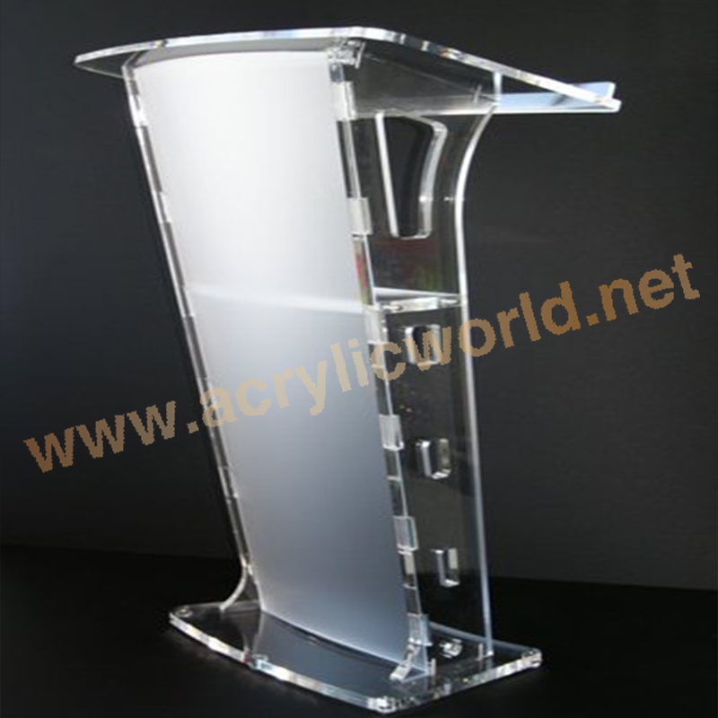Floor Standing Acrylic Church Lectern Acrylic Speech Podium Wholesale