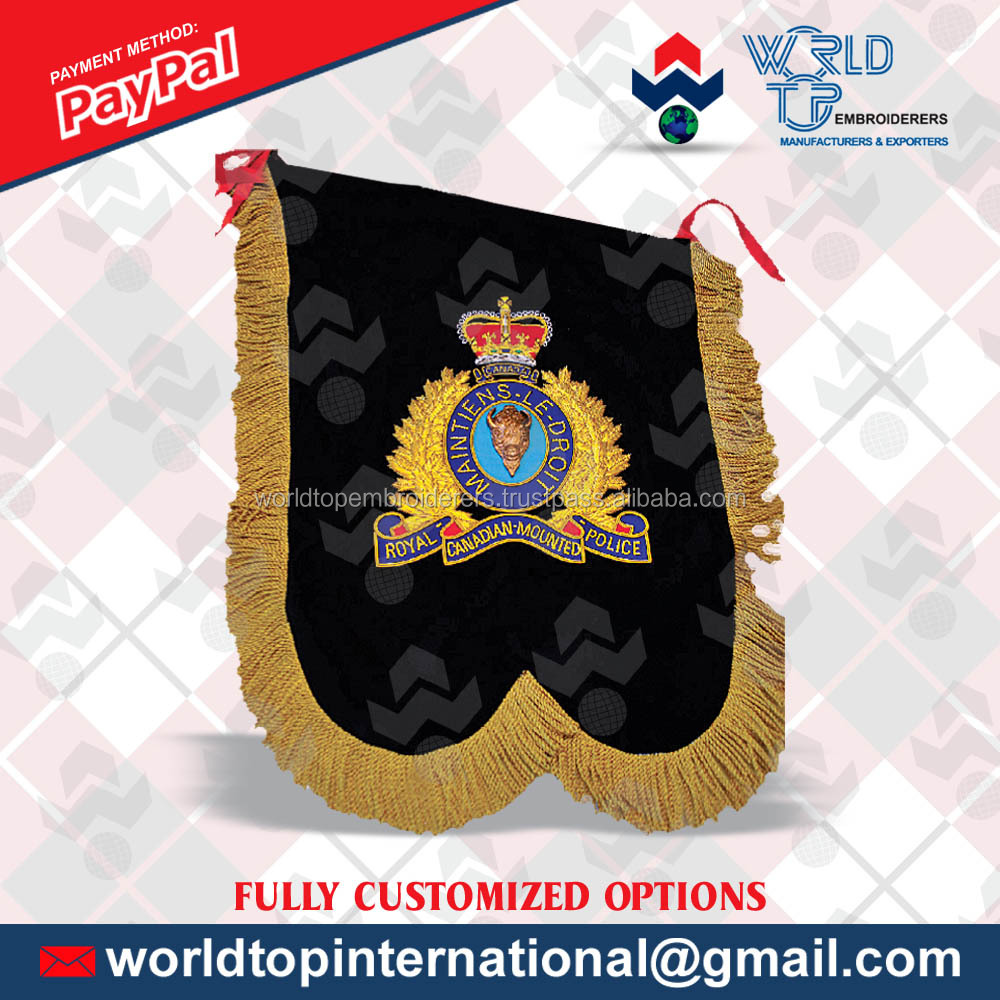 Double Sided Hand Embroidery Banner / Thread Embroidery Flag /Custom Flags and Banners Made by House of quality