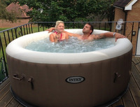 Pure Spa Inflatable 4 Person Portable Spa Hot Tub Spas PureSpa Bubble Intex