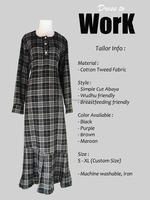 Modest Office Work Dress Abaya