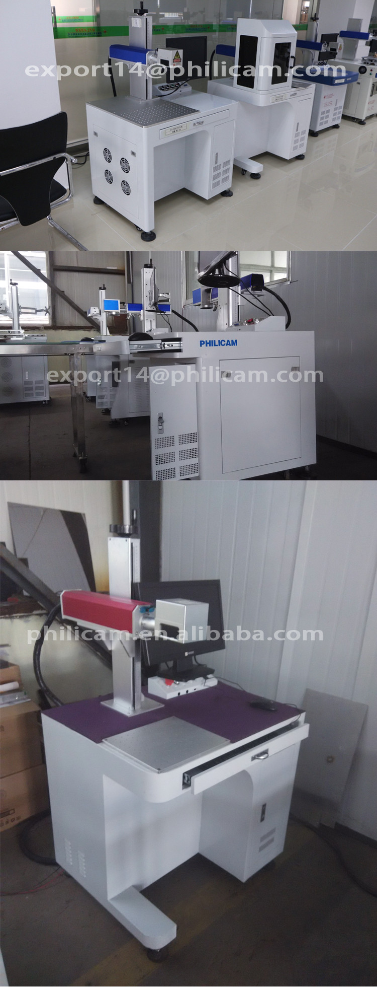 Jinan high quality fiber 20w metal and non-metal 3d printer laser marking machine for sale