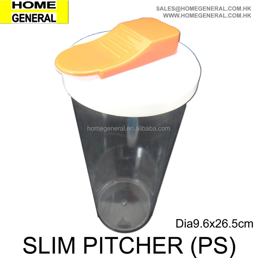 KITCHEN GENERAL PS SLIM PITCHER BEER PITCHER PITCHER FOR PARTY 1.2L PITCHER WITH SLIDING LID PLASTIC MILK PITCHER