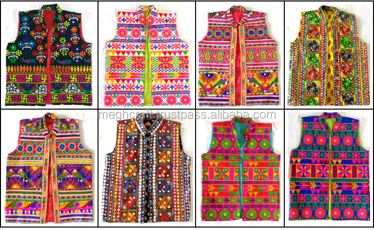 Indian gypsy banjara embroidery man jacket - Wholesale cotton man jacket - navratri wear koti - Party wear waistcoat
