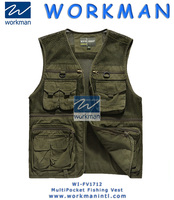 Fashion Cool Men Outdoor Fishing Vest 100% Cotton Autumn Spring Men Vest With Multi Pockets Outdoor Waistcoat Photography Vest